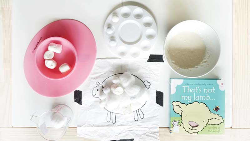 DIY Pet Lamb Bookish Play for Toddlers