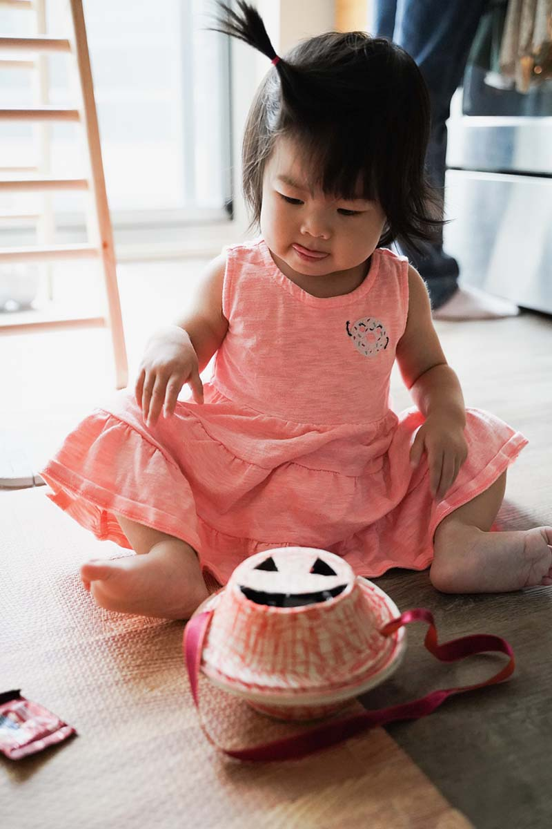 DIY Pumpkin Bag for Toddler Trick or Treat