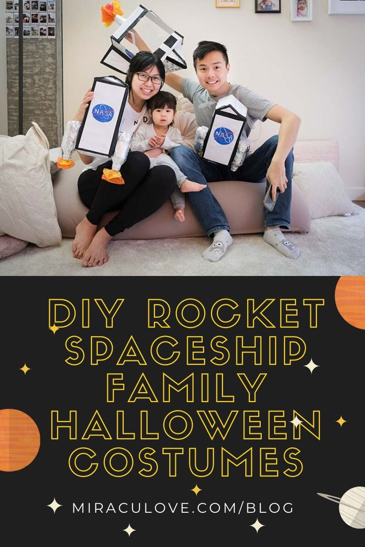 DIY Rocket Spaceship Family Halloween Costumes