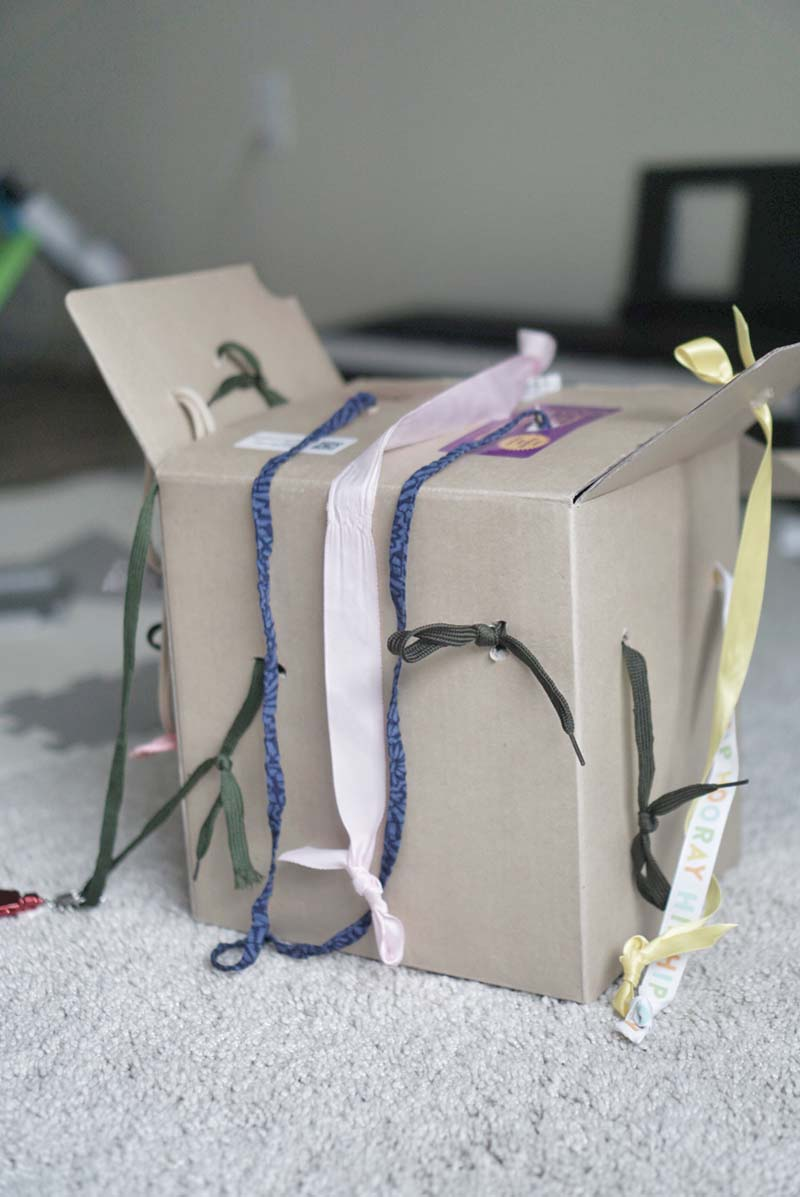 DIY Tugging Box for Cause and Effect Learning. For Babies and Young Toddlers