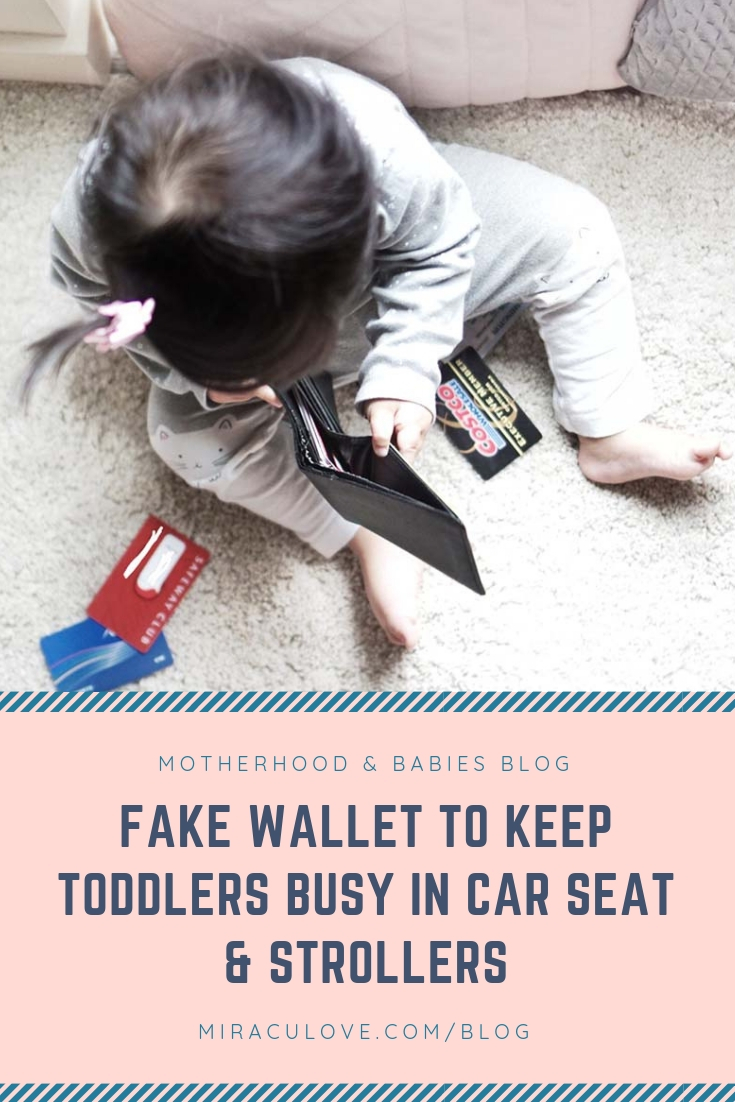 Fake Wallet to Keep Toddlers Busy in Car Seat & Strollers