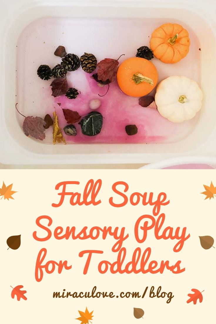 Fall Soup Sensory Play for Toddlers