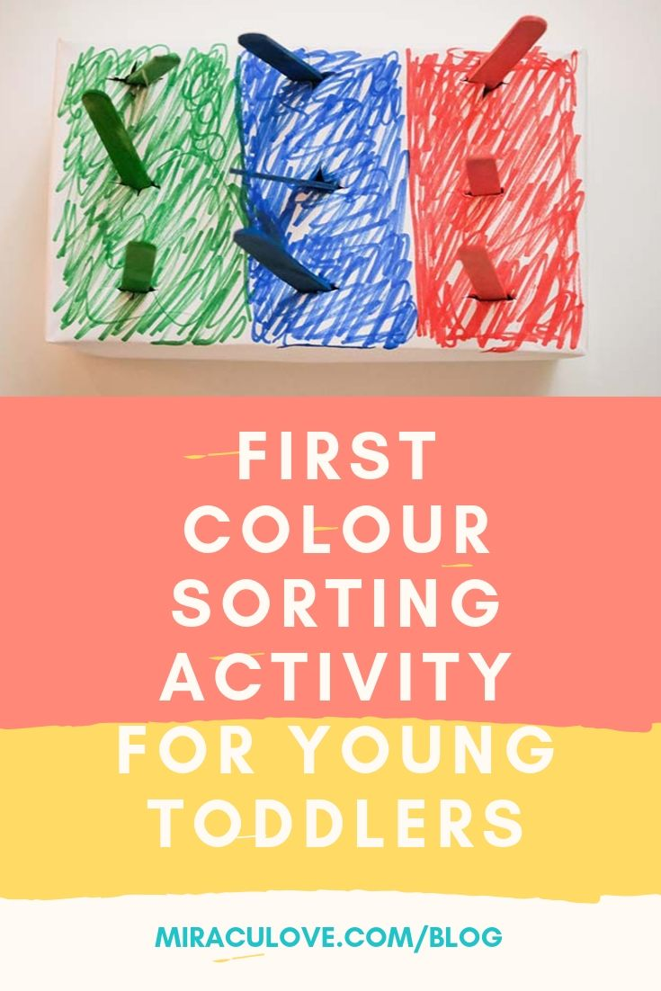 First Colour Sorting Activity for Young Toddlers
