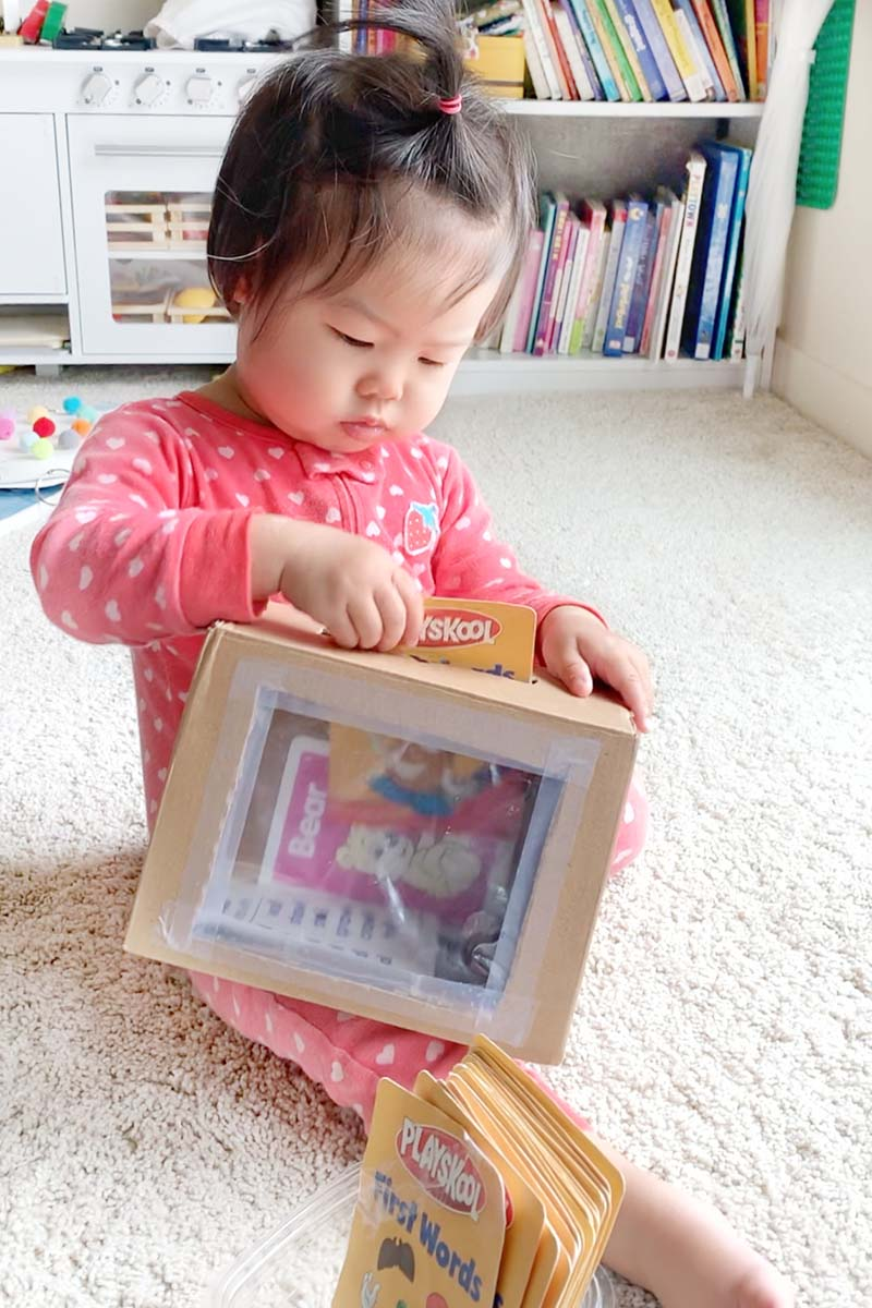 Flash Card Box Posting Activity for Toddlers