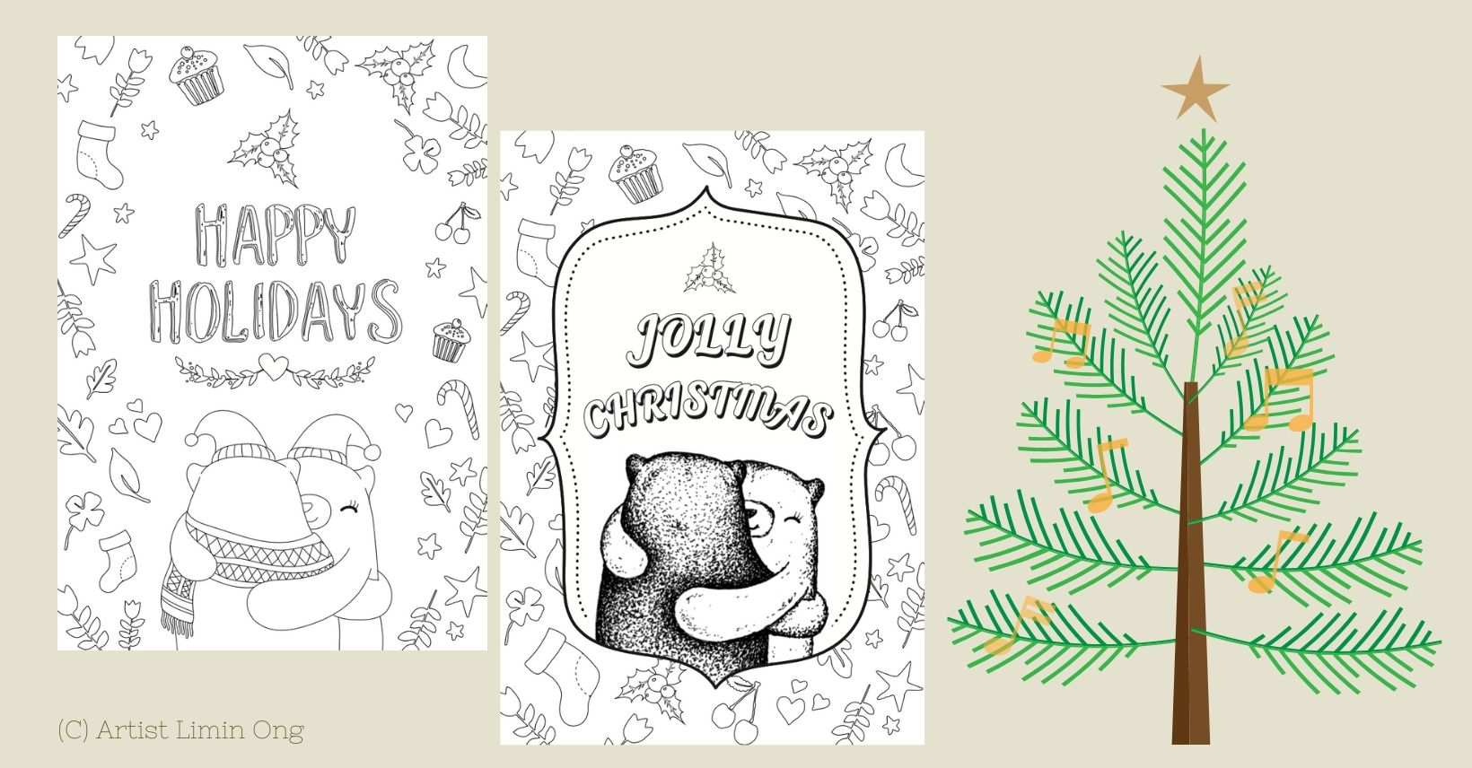 Christmas Kids Coloring Card Free Printables