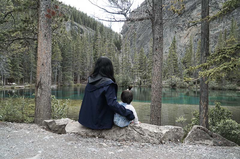 Grassi Lakes Hike in Canmore Alberta Canada with Young Toddler