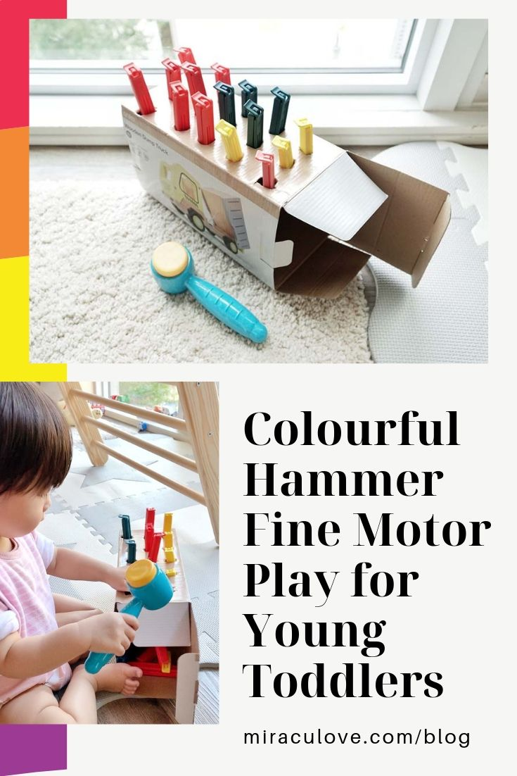 Colourful Hammer Fine Motor Play for Young Toddlers