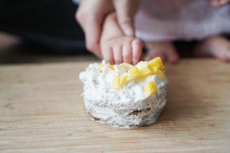 Healthy Whole Wheat Smash Fruit Cake for Baby