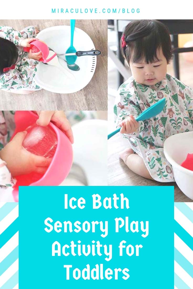 Ice Bath Sensory Play Activity for Toddlers