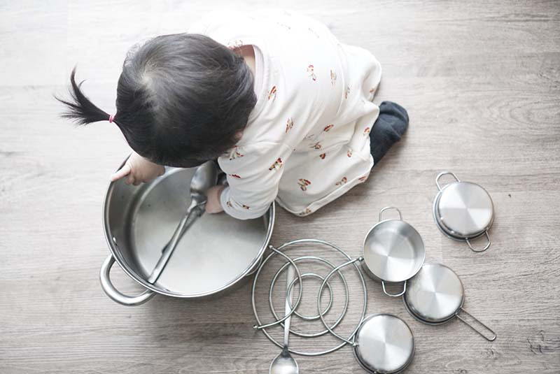 Kitchen Rock Band for Your Drummer Baby or Toddler