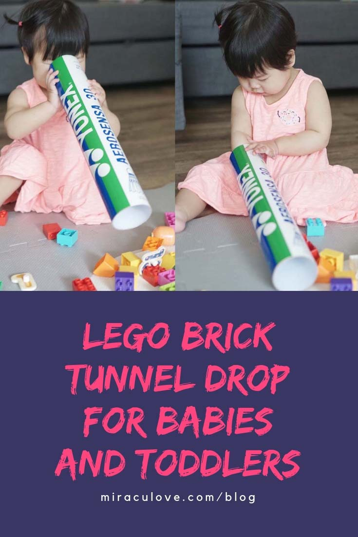 Lego Brick Tunnel Drop for Babies and Toddlers