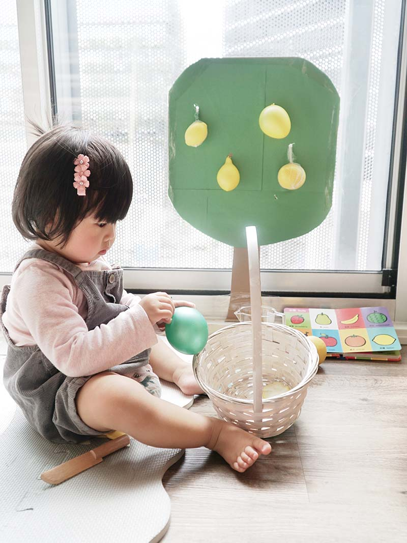 Lemon Picking Fine Motor Toddler Activity-1