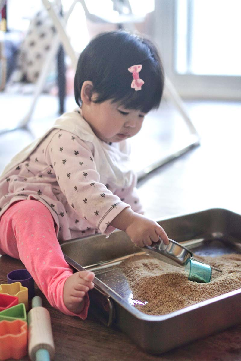 Not Just Edible But Nutritious Sand Sensory Play for Toddlers