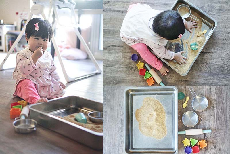 Not Just Edible But Nutritious Sand Sensory Play