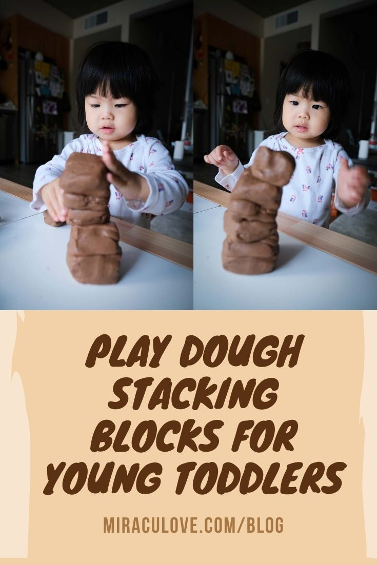 Play Dough Stacking Blocks for Young Toddlers