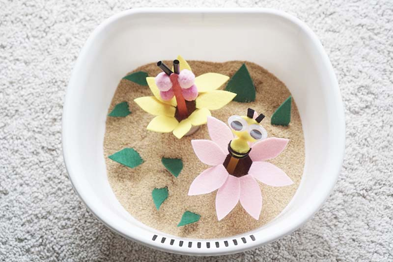 Pluckable Flower Sensory Garden for Toddlers