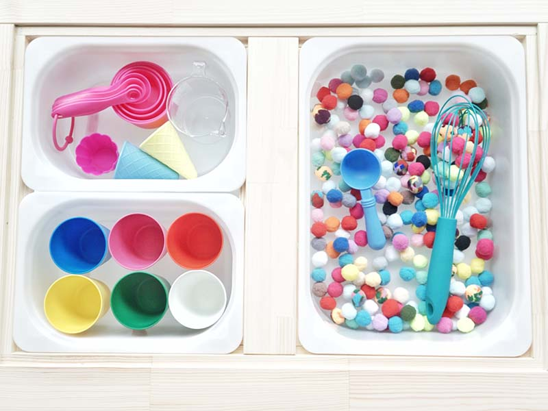 Pom Pom Ball Sensory Activity for Toddlers