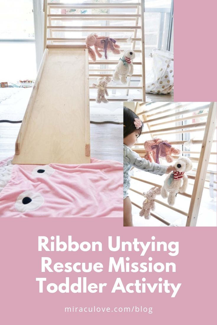 Ribbon Untying Rescue Mission Toddler Activity