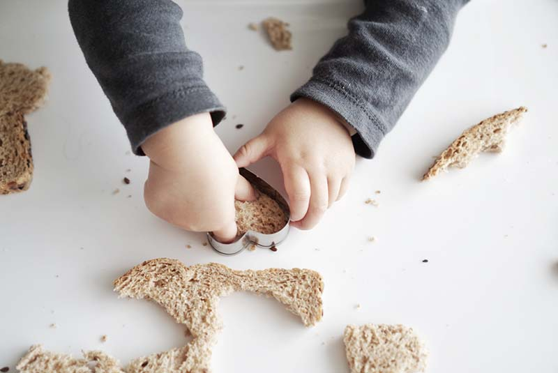 Sandwich Cutting Breakfast Activity for Toddlers
