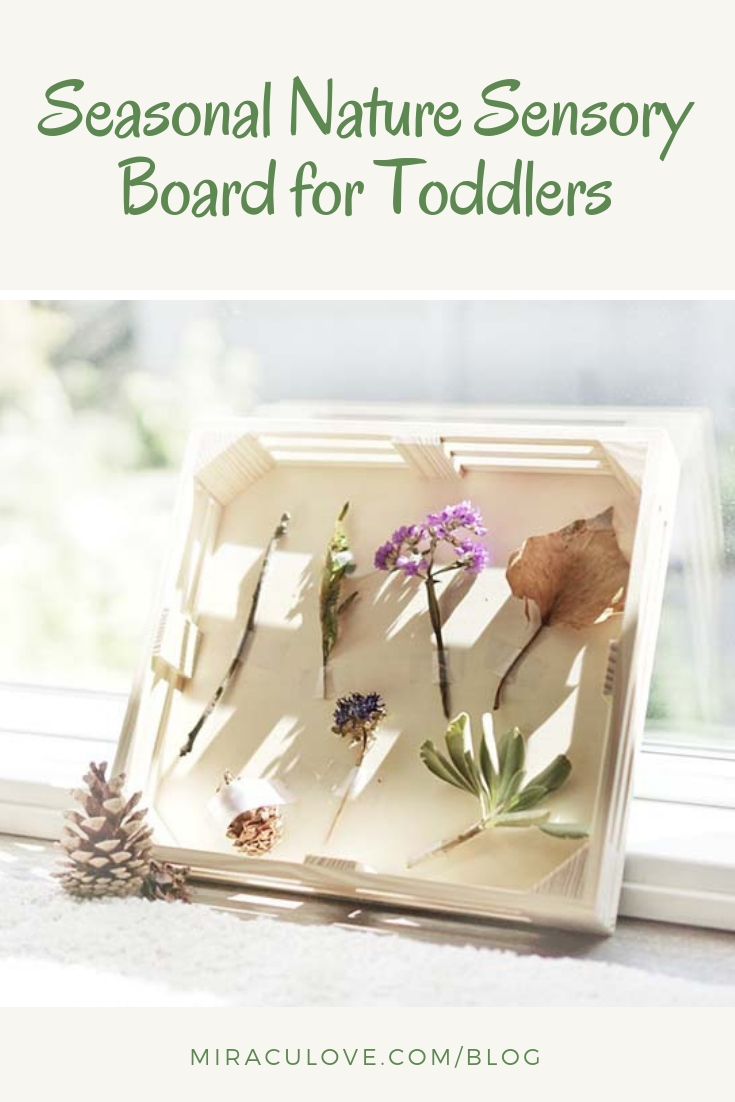 Seasonal Nature Sensory Board for Toddlers