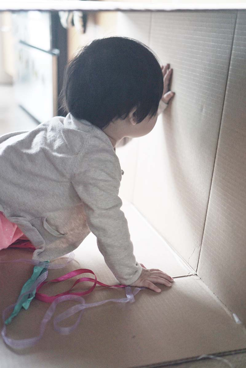Simple But Fun Cardboard Box Play Tunnel for Crawling Babies & Toddlers