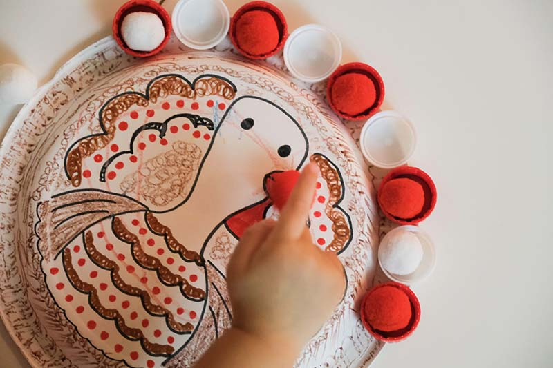 Thanksgiving Turkey Color Sorter Toddler Toy