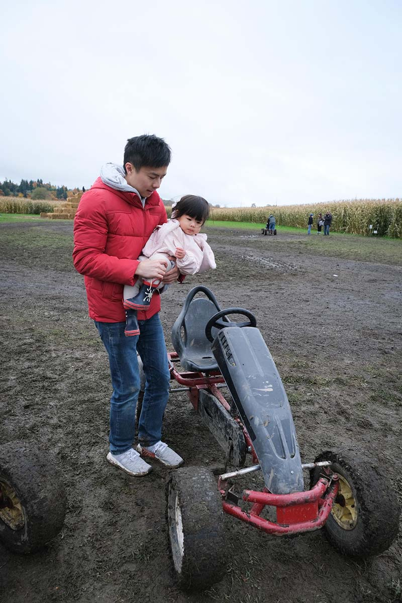 The Farm at Swans Trail WA Visit Pumpkin Picking with Young Toddler