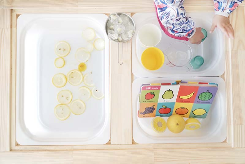 Trying Out Lemon Ice And Water Sensory Toddler Play