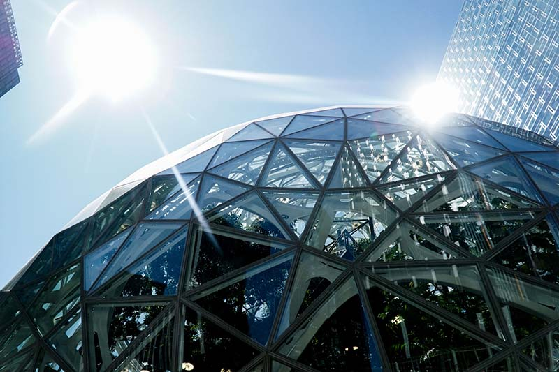 Visiting Seattle Amazon Spheres WA with Young Toddler