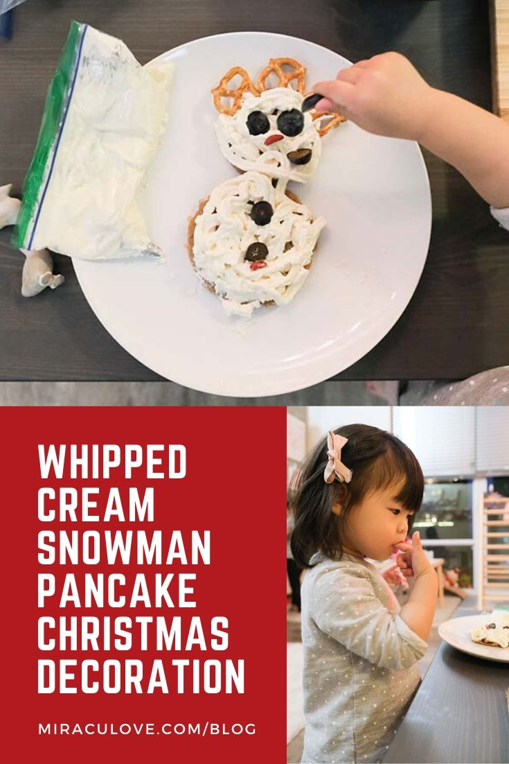 Whipped Cream Snowman Pancake Christmas Decoration