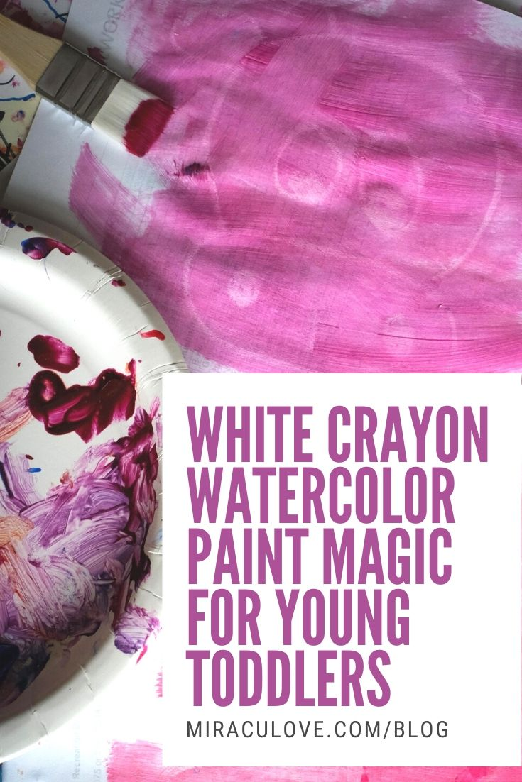 White Crayon Watercolor Paint Magic for Young Toddlers