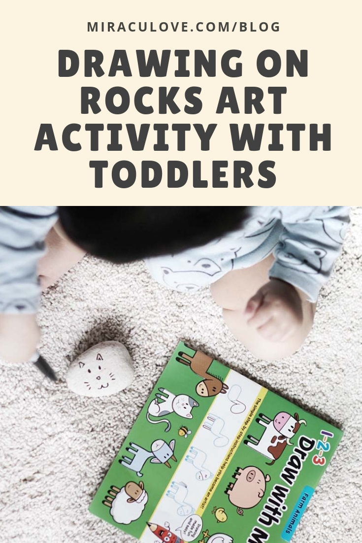 Drawing on Rocks Art Activity with Toddlers