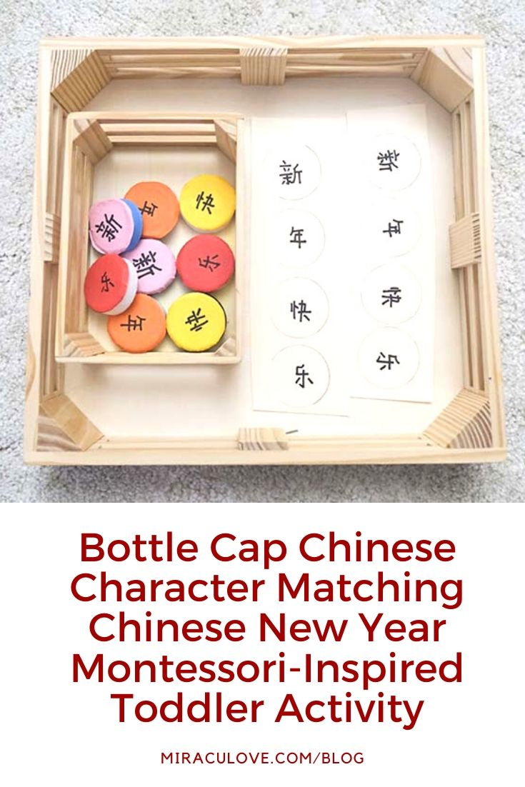 Bottle Cap Matching Chinese New Year Toddler Activity