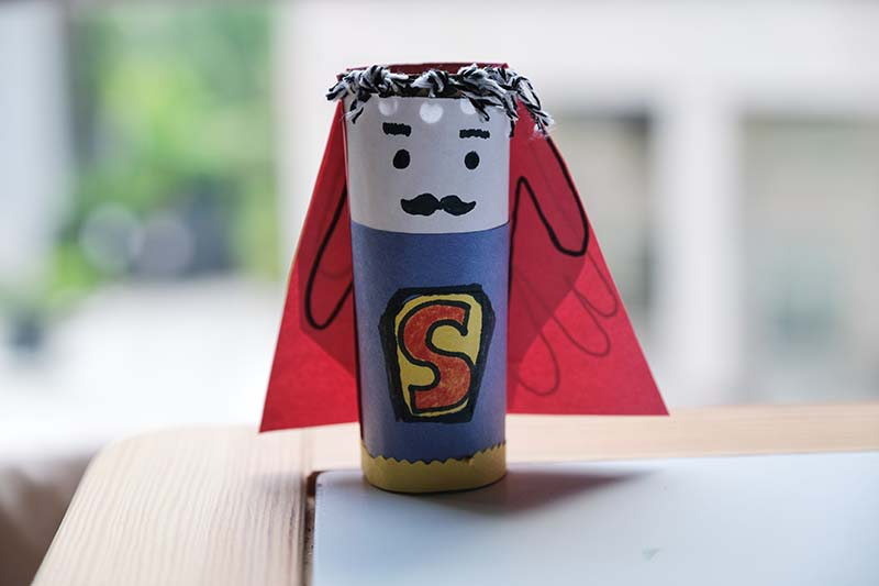Miraculove Superhero Father's Day Craft with Customisable Hairdo & Handprint Cape
