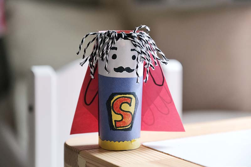 Superhero Father's Day Craft with Customisable Hairdo & Handprint Cape