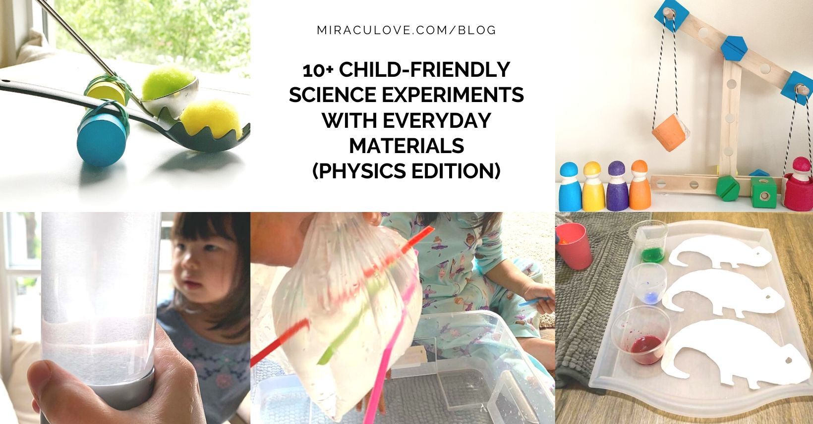 10+ Physics Home Experiments with Everyday Materials for Children