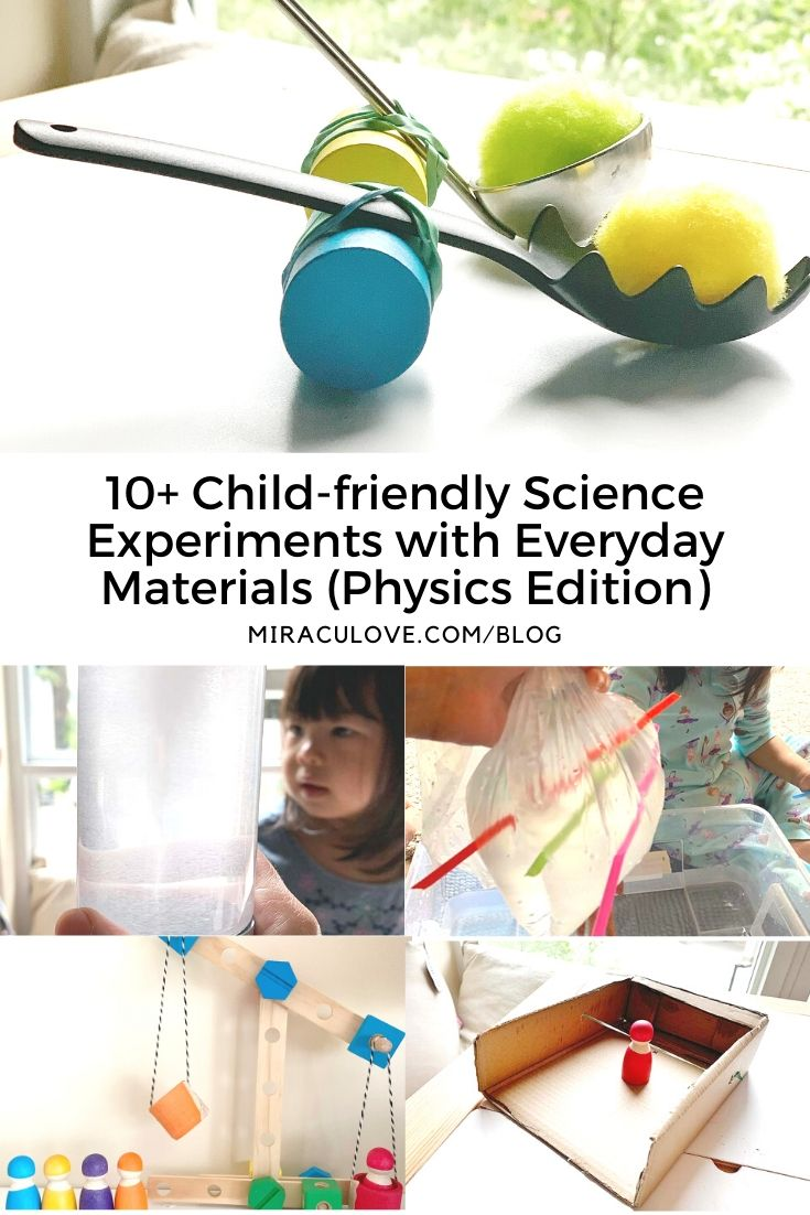 10 Simple Physics Experiments with Everyday Materials for Children